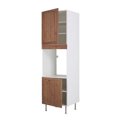 faktum hochschr f backofen 2 t ren 3 einlb fagerland antikbeize ikea. Black Bedroom Furniture Sets. Home Design Ideas