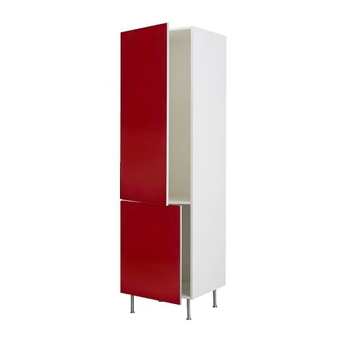 ikea faktum hochschrank f k hl gefrierschrank abstrakt rot 60x211 cm 44 58 g nstiger bei. Black Bedroom Furniture Sets. Home Design Ideas