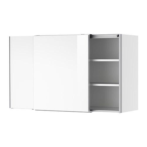 IKEA FAKTUM Wandschrank mit Schiebetüren - Abstrakt weiß, 120x70 cm ...