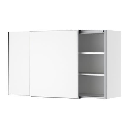 Waschtisch Selber Bauen Ikea ~ IKEA FAKTUM Wandschrank mit Schiebetüren  Applåd weiß, 120×70 cm 0