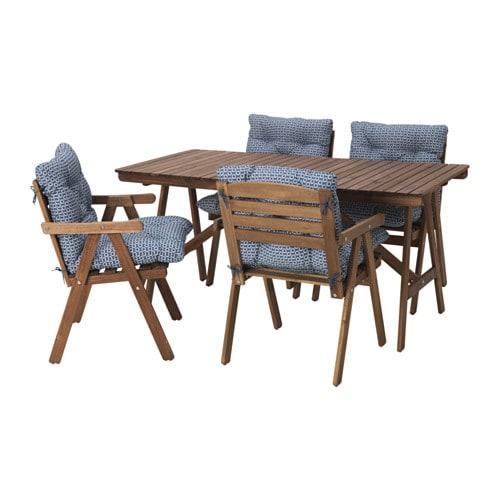 falholmen tisch+4 armlehnstühle/außen - ikea, Gartenmöbel