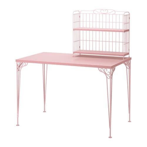 falkh jden schreibtisch mit aufsatz rosa ikea. Black Bedroom Furniture Sets. Home Design Ideas