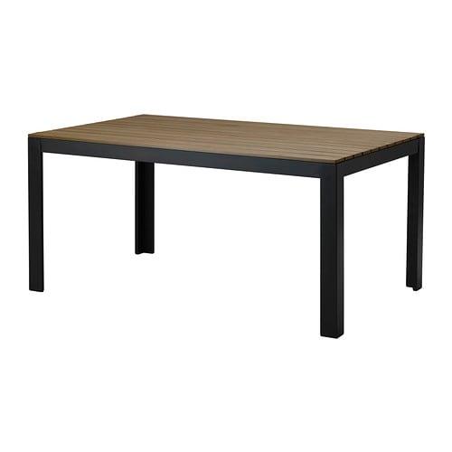 falster tisch au en schwarz braun ikea. Black Bedroom Furniture Sets. Home Design Ideas
