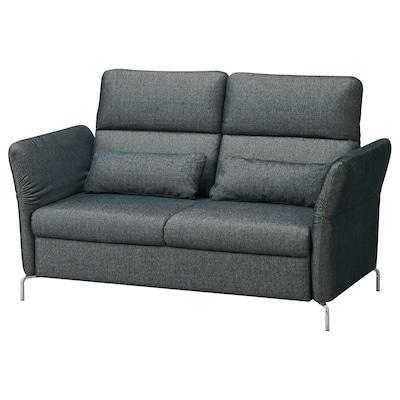 FAMMARP 2er-Sofa, Metall/Tallmyra schwarz/grau