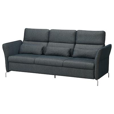FAMMARP 3er-Sofa, Metall/Tallmyra schwarz/grau