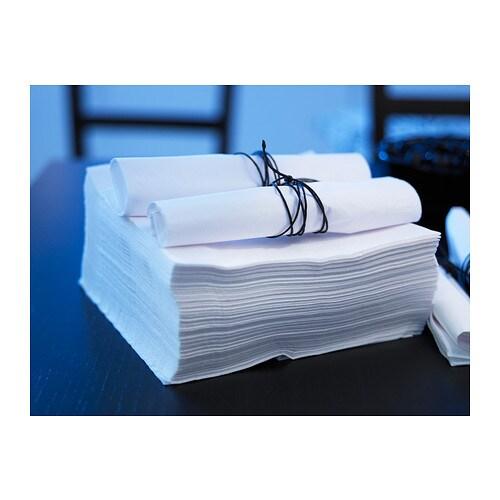 100 st ck ikea papierservietten 40x40 cm servietten weiss. Black Bedroom Furniture Sets. Home Design Ideas