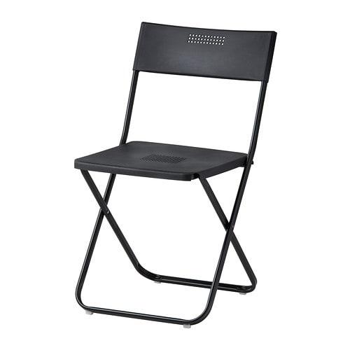 fejan stuhl au en klappbar schwarz ikea. Black Bedroom Furniture Sets. Home Design Ideas