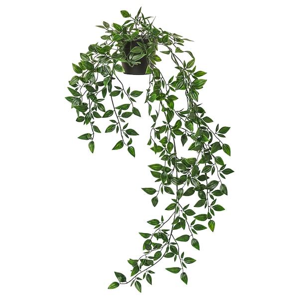 Boho Schlafzimmer FEJKA Topfpflanze, künstlich, hängend 9 cm