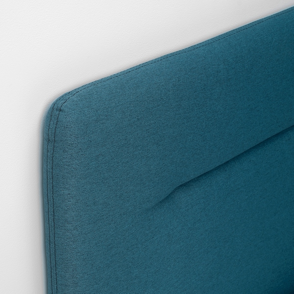 FINNSNES Boxspringbett, Hyllestad fest/mittelfest/Tustna blau, 180x200 cm