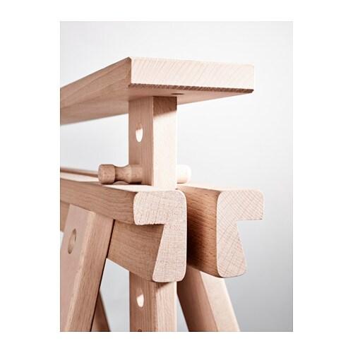 Tischbock Höhenverstellbar finnvard tischbock mit ablage buche ikea