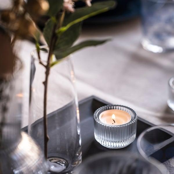 FINSMAK Teelichthalter, Klarglas, 3.5 cm