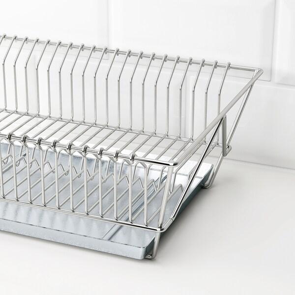 FINTORP Abtropfgestell, vernickelt, 37.5x29x13.5 cm