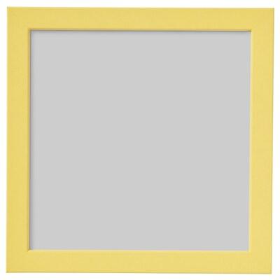 FISKBO Rahmen, gelb, 21x21 cm