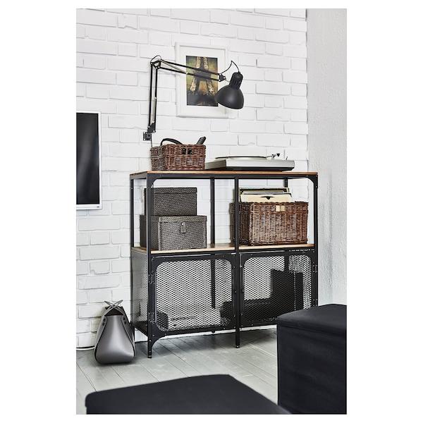 FJÄLLBO Regal, schwarz, 100x95 cm
