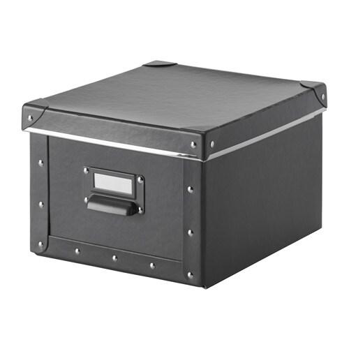 fj lla box mit deckel dunkelgrau ikea. Black Bedroom Furniture Sets. Home Design Ideas