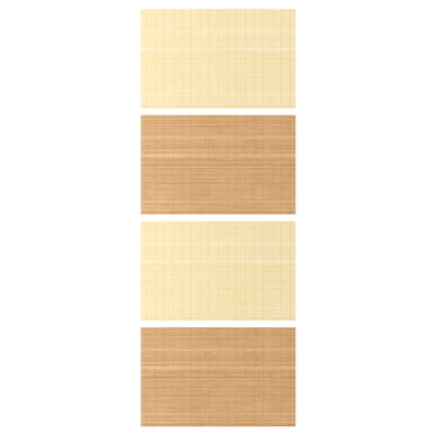 FJELLHAMAR 4 Paneele f Schiebetürrahmen, Bambus/doppelseitig, 75x201 cm
