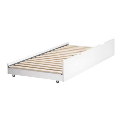 Wickelkommode Leksvik Von Ikea ~   FLAXA Bettgestell mit Kopfteil um einen herausziehbaren Schlafplatz