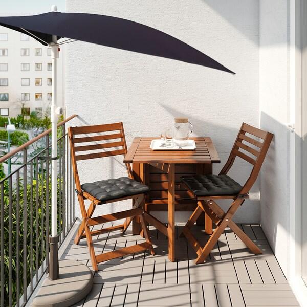 FLISÖ Sonnenschirm, schwarz, 160x100 cm