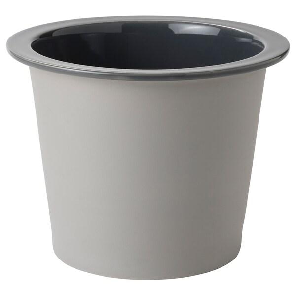 FNITTRIG Übertopf, drinnen/draußen blau/grau, 24 cm