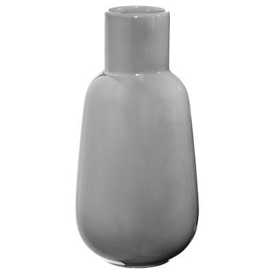 FNITTRIG Vase, grau, 26 cm