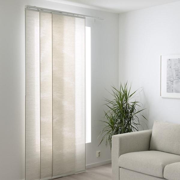 FÖNSTERVIVA Schiebegardine, weiß/beige, 60x300 cm