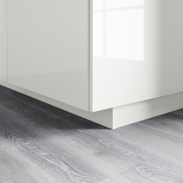 FÖRBÄTTRA Sockel, Hochglanz weiß, 220x8 cm