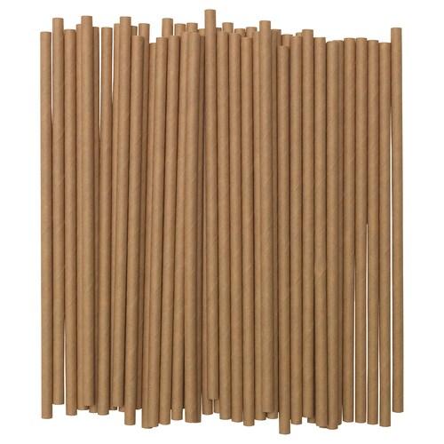 FÖRNYANDE Trinkhalm Papier/braun 100 Stück