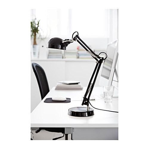 ikea tischlampe forsa arbeitsleuchte mit verstellbarem arm und kopf h he 50cm aus. Black Bedroom Furniture Sets. Home Design Ideas