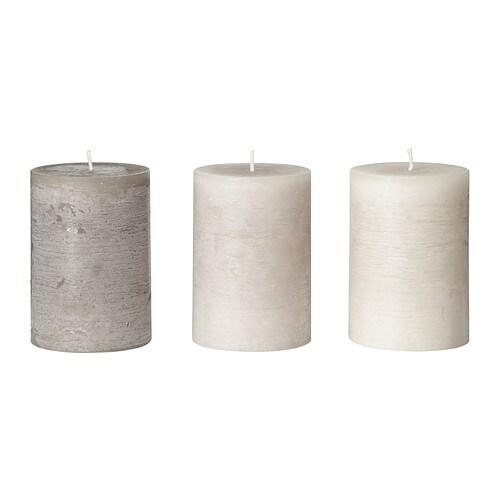 FÖRSÖKA Blockkerze, duftend , beige Durchmesser: 7 cm Höhe: 10 cm Brenndauer: 30 Std. Anzahl pro Verpackung: 3 Stück