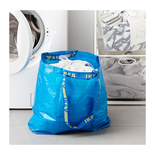 10x ikea frakta tragetasche tasche einkaufstasche 36liter volumen blau bis 25kg ebay. Black Bedroom Furniture Sets. Home Design Ideas