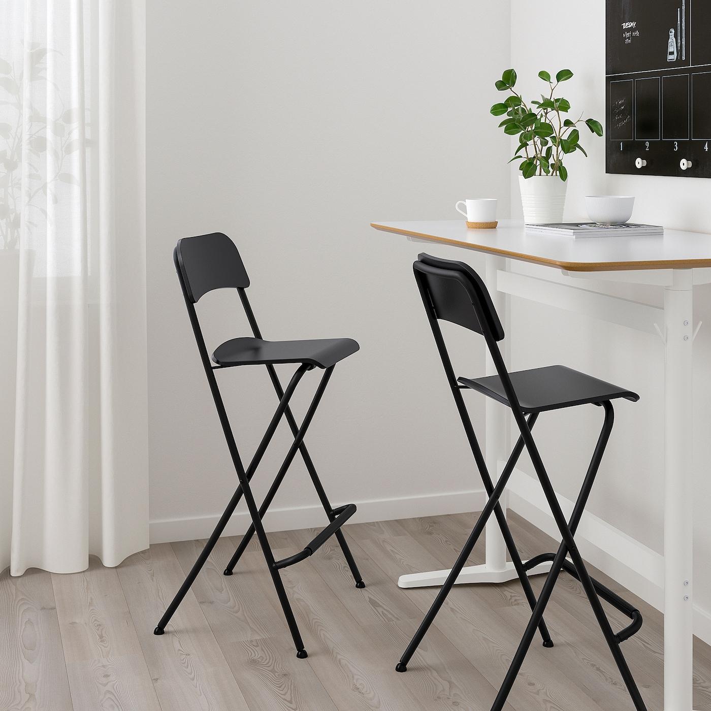 Franklin Barhocker Zusammenklappbar Schwarz Schwarz Alle Details Zum Produkt Ikea Deutschland