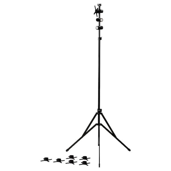 FREKVENS Stativ schwarz 90 cm 90 cm 130 cm 100 cm 180 cm