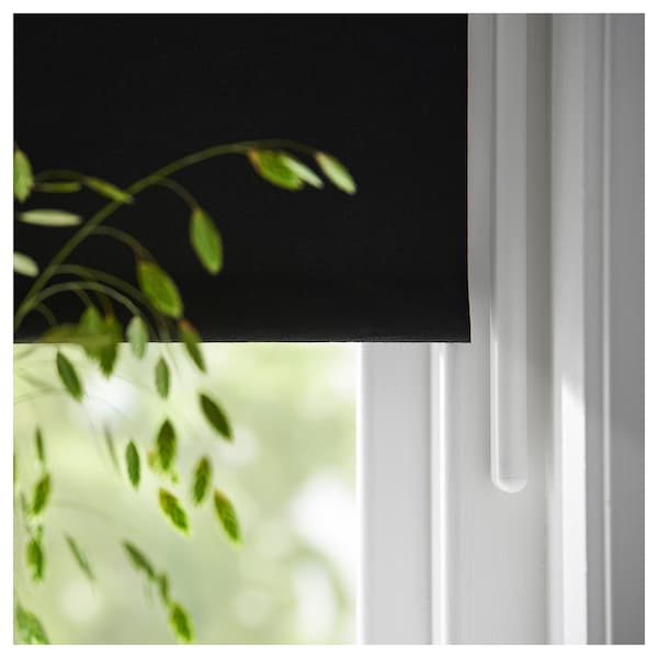 FRIDANS Verdunklungsrollo, schwarz, 80x195 cm
