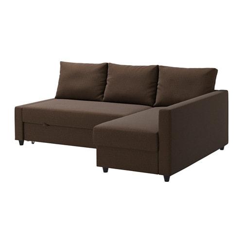 Schlafsofa ikea mit bettkasten  FRIHETEN Eckbettsofa mit Bettkasten - Skiftebo braun - IKEA