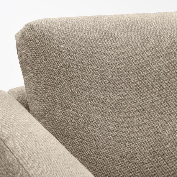 FRIHETEN Eckbettsofa mit Bettkasten, Hyllie beige