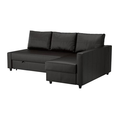 Recamiere mit bettkasten  FRIHETEN Eckbettsofa mit Bettkasten - Bomstad schwarz - IKEA