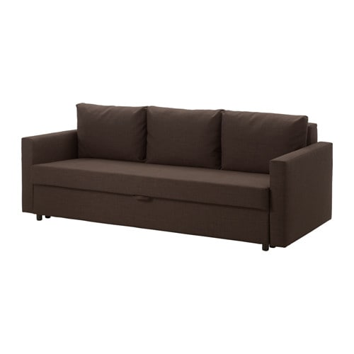 friheten 3er bettsofa skiftebo braun ikea. Black Bedroom Furniture Sets. Home Design Ideas