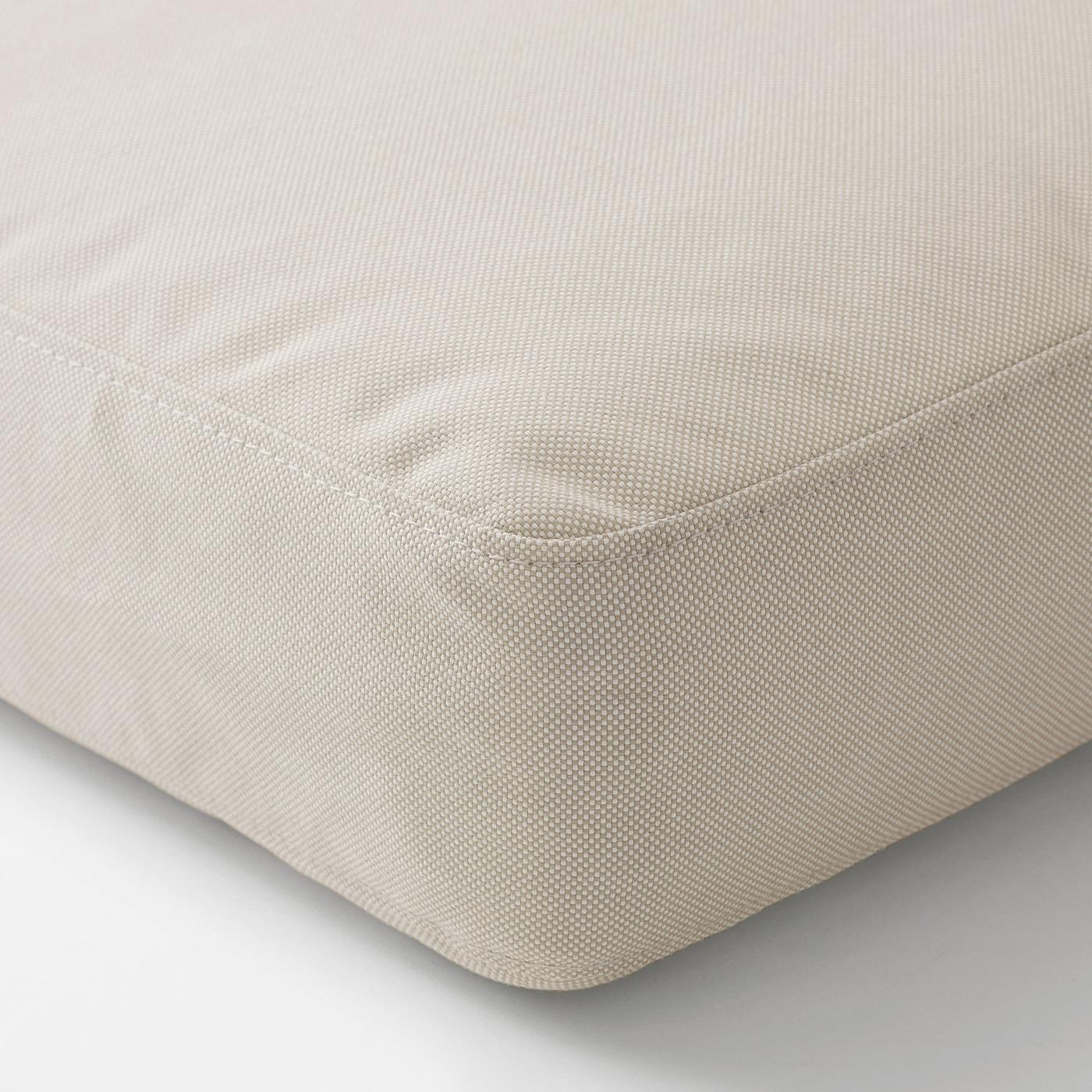 FRÖSÖN/DUVHOLMEN Sitzpolster/außen, beige, 62x62 cm