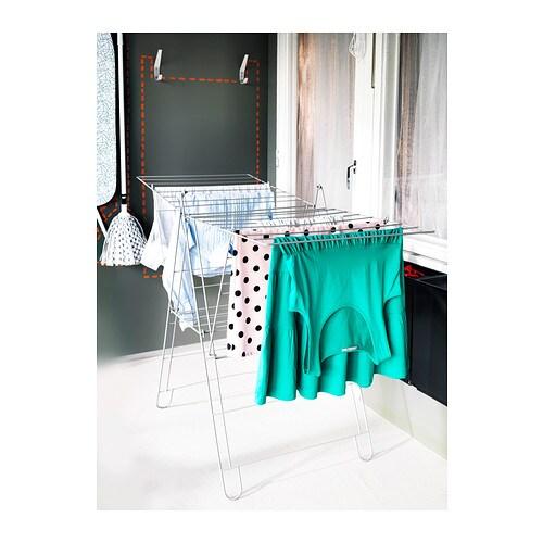 ikea 19 m w schest nder w schetrockner fl gelw schtrockner st nder wei neu ebay. Black Bedroom Furniture Sets. Home Design Ideas