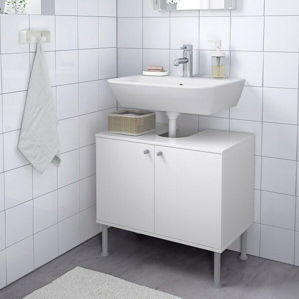 FULLEN Waschbeckenunterschrank, 2 Türen, weiß, 60x55 cm