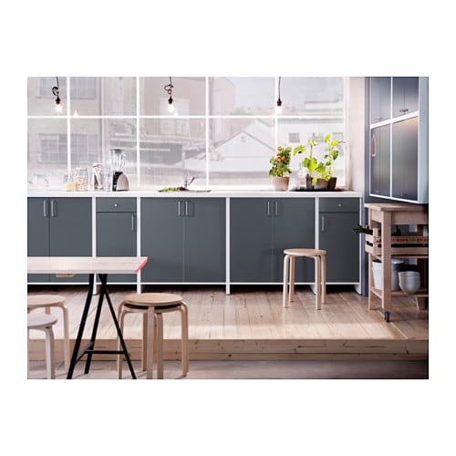 ikea fyndig unterschrank f r backofen grau k chenschrank sp le k che schrank neu ebay. Black Bedroom Furniture Sets. Home Design Ideas