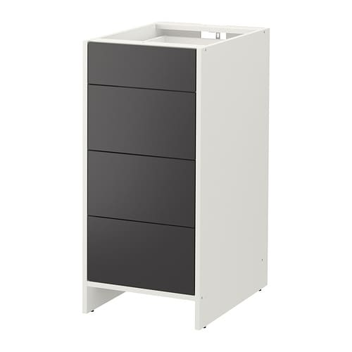 fyndig unterschrank mit schubladen wei grau ikea. Black Bedroom Furniture Sets. Home Design Ideas