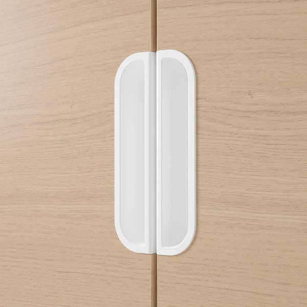 GALANT Aufbewahrungskombi, Eichenfurnier weiß lasiert, 160x120 cm