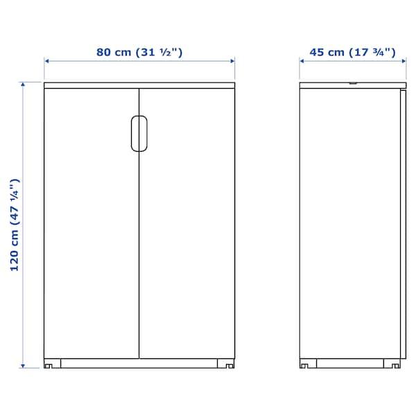 GALANT Schrank mit Türen, weiß, 80x120 cm
