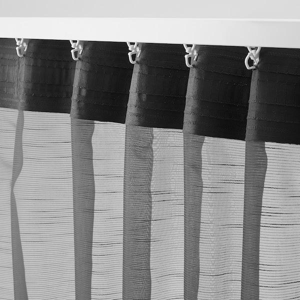 GJERTRUD Gardinenstore/Paar, dunkelgrau, 145x300 cm