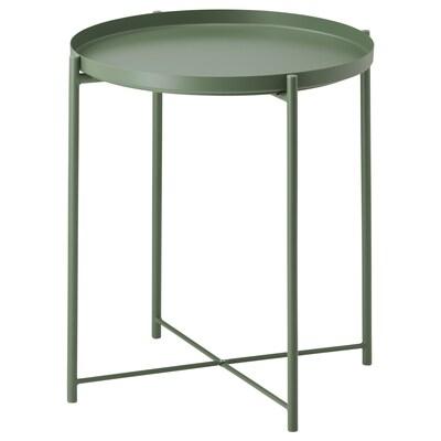 GLADOM Tabletttisch dunkelgrün 53 cm 45 cm