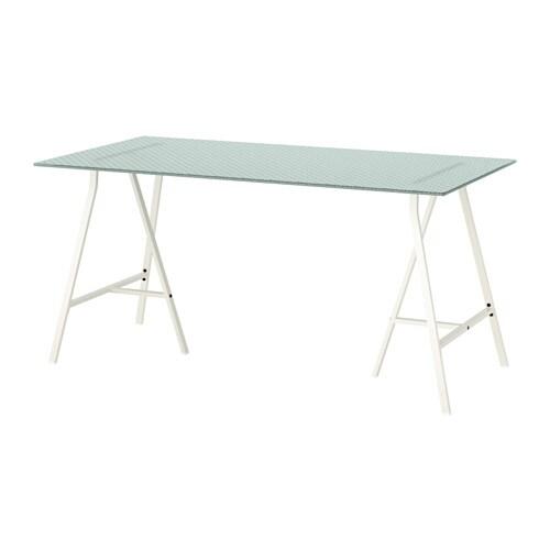 Glasholm lerberg tisch glas wabenmuster wei ikea for Ikea tisch glas