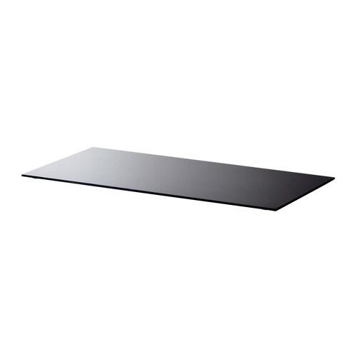 tischplatte glas schwarz