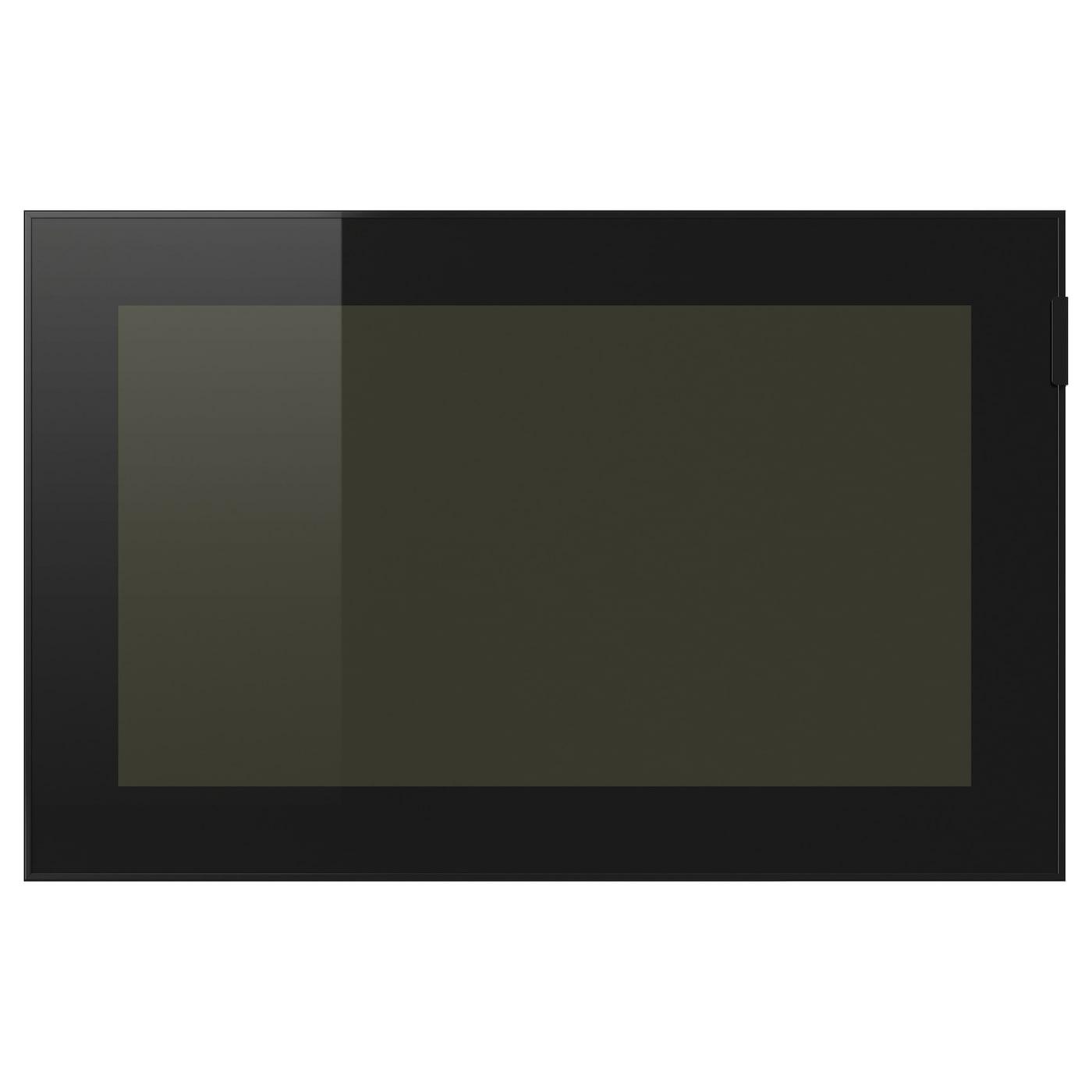 GLASSVIK, Vitrinentür, schwarz 602.916.52