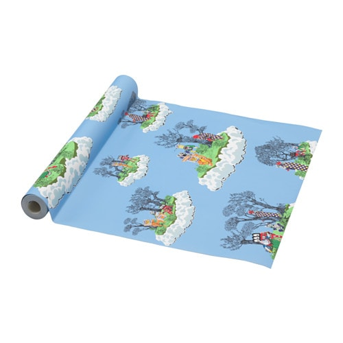 Ikea gl dande tapete papier blau wolken kindertapete for Kindertapete junge